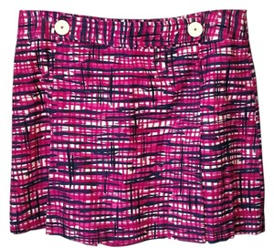 Lilly Pulitzer Mini Skirt Pink and navy
