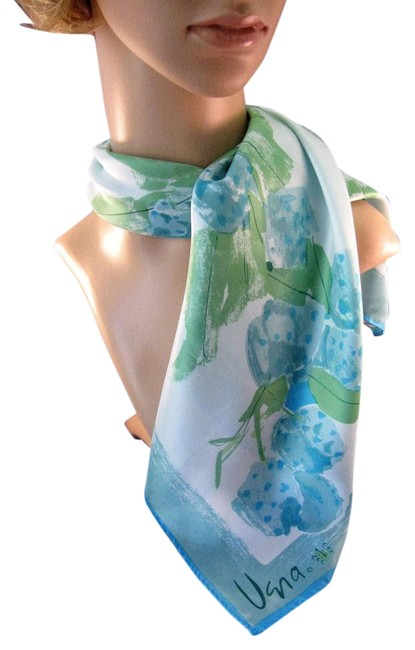 Item - Aqua and Green Hues Woman's - Colorful - Made In Japan Scarf/Wrap