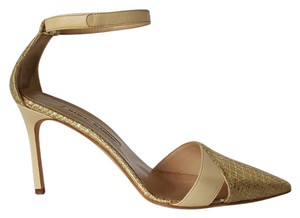 Manolo Blahnik Limited Edition Gold Pumps