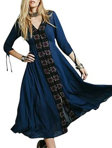Navy multi Maxi Dress by Free People