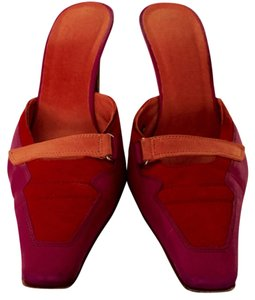 Donald J. Pliner Orange and pink Pumps