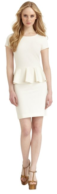 Preload https://img-static.tradesy.com/item/14854288/saks-fifth-avenue-white-ivory-ponte-knit-peplum-above-knee-workoffice-dress-size-0-xs-0-1-650-650.jpg