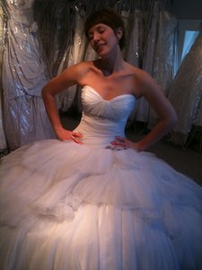 Anjolique Ice Blue Tulle 2206 Vintage Wedding Dress Size 6 (S)