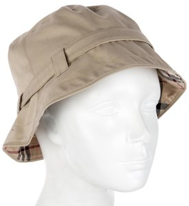Burberry Tan, beige multicolor Nova Check print Burberry bucket hat