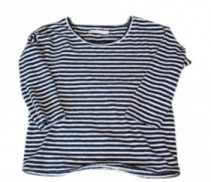 Madewell T Shirt Navy and White Stripe