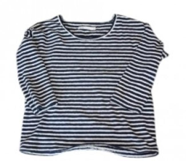 Preload https://item1.tradesy.com/images/madewell-navy-and-white-stripe-pencil-stripe-pullover-tee-shirt-size-8-m-14855-0-0.jpg?width=400&height=650