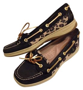 Sperry Black Cheetah Flats