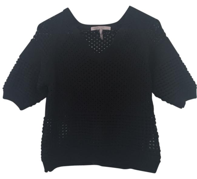 Preload https://img-static.tradesy.com/item/14855521/halston-black-heritage-open-stitch-sweaterpullover-size-4-s-0-1-650-650.jpg