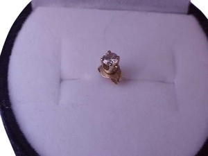 Other Estate 14k Yellow Gold .10ct Solitaire Diamond Earring Stud