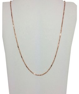 Other 14K Solid Rose Gold Twisted Box and Bar Chain ~1.10mm 16 Inches