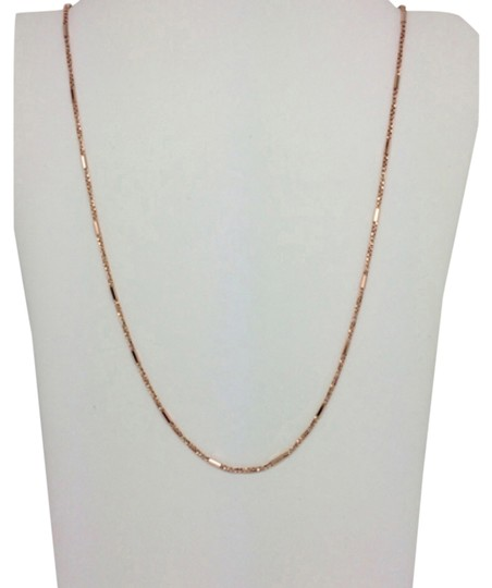 Preload https://item1.tradesy.com/images/14k-solid-rose-gold-twisted-box-and-bar-chain-110mm-16-inches-necklace-14855710-0-1.jpg?width=440&height=440