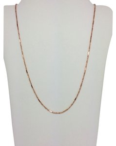 Other 14K Solid Rose Gold Twisted Box with Bar Chain ~1.10mm 18 Inches