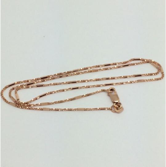 Other 14K Solid Rose Gold Twisted Box with Bar Chain