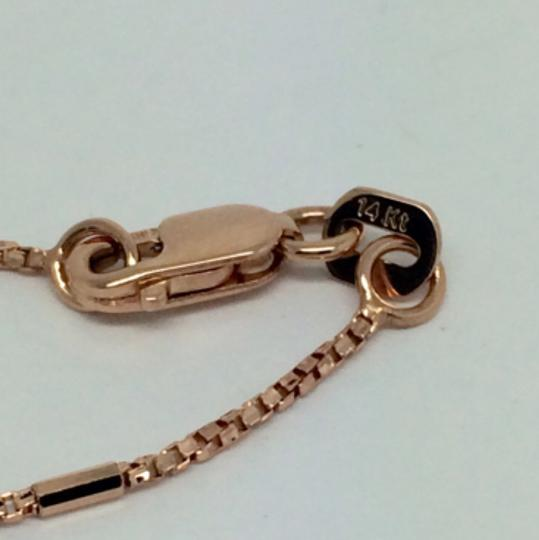 Other 14K Rose Gold Twisted Box with Bar Chain ~1.10mm 20 inches