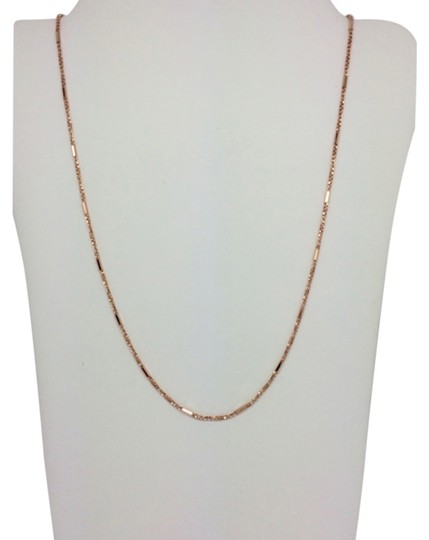 Preload https://item2.tradesy.com/images/14k-solid-rose-gold-twisted-box-with-bar-chain-110mm-22-inches-necklace-14855881-0-1.jpg?width=440&height=440