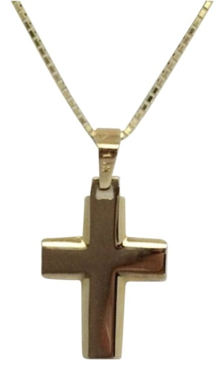 Preload https://item5.tradesy.com/images/14k-yellow-gold-plain-solid-cross-pendant-charm-14856019-0-1.jpg?width=440&height=440