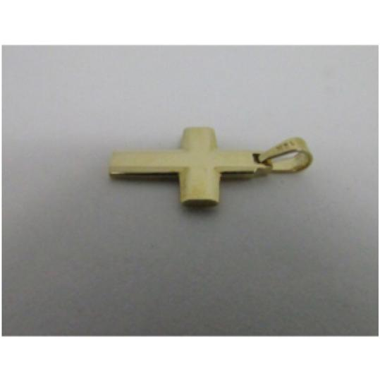 Other 14K Yellow Gold Plain Solid Cross Pendant