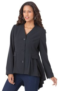 Roaman's Jacket High Low Jacket Black Blazer