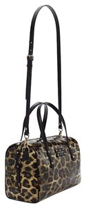 Kate Spade Satchel in Black and Leopard Print