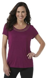 Jaclyn Smith Embellished T Shirt