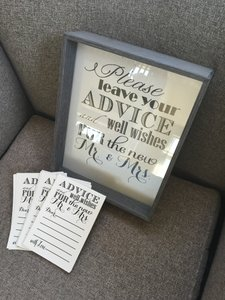 Gray Black and Silver Advice Well Wishes Set Reception Decoration