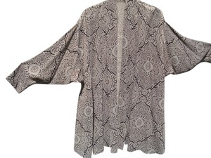 Jerry Giardelli black and silver paisely swing jacket Jacket