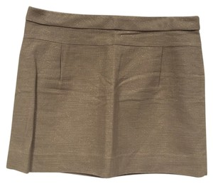 J.Crew Mini Skirt Tan, Gold