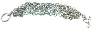 Tiffany & Co. Tiffany & Co. Sterling Silver 5 Strands Multi-Heart Link Toggle