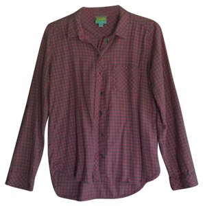 C&C California Button Down Shirt Gray and Pink