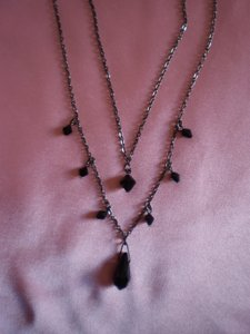 Other Like new Black beaded double strand necklace
