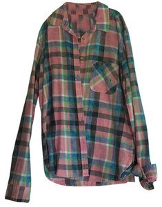 American Eagle Outfitters Button Down Shirt Plaid