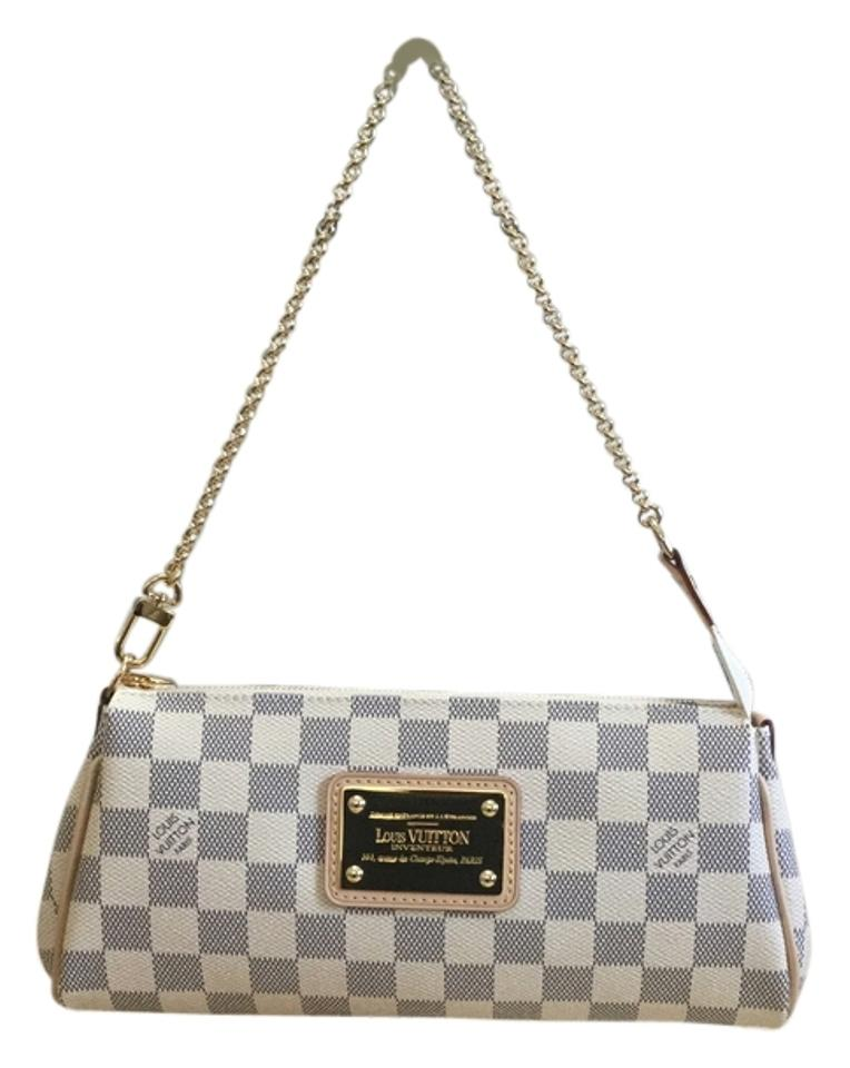 1b09eaace0ec Louis Vuitton Eva Comes with Dustbag and Date Code Mb5125 Made In France Damier  Azur Canvas Leather Cross Body Bag