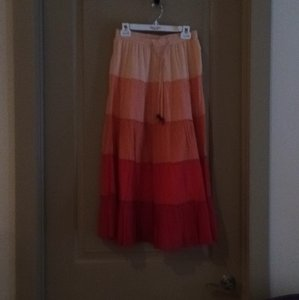 Old Navy Maxi Skirt Orange