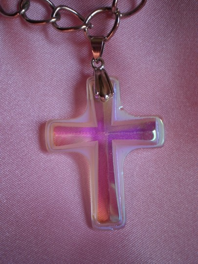 Other New Hologram cross necklace