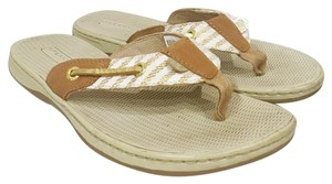 Sperry Beige, White, Tan, Gold Sandals