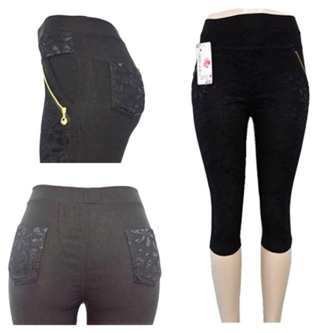 Preload https://item4.tradesy.com/images/black-pants-with-front-lace-m-capricropped-jeans-size-30-6-m-14857498-0-2.jpg?width=400&height=650
