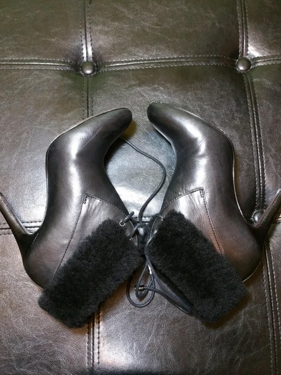 Coach Shearling Black leather Boots