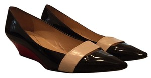 Kate Spade Black, off white and red Wedges