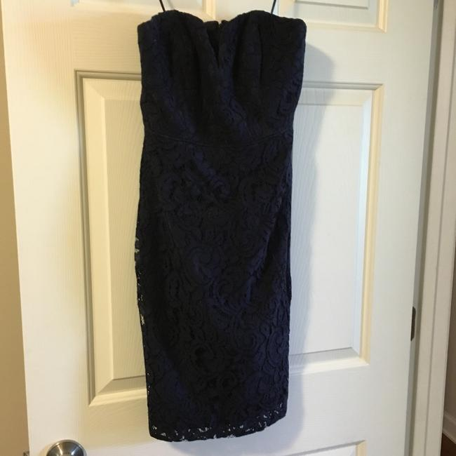 Item - Navy Lace Formal Bridesmaid/Mob Dress Size 2 (XS)