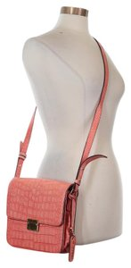Cynthia Rowley Alligator Crocodile Leather Orange Cross Body Bag