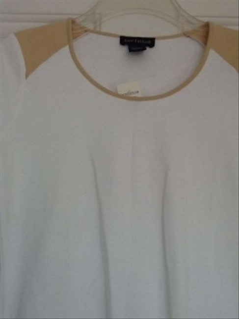 Ann Taylor T Shirt white and Tan
