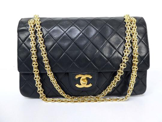 Preload https://item4.tradesy.com/images/chanel-classic-flap-double-chain-black-lambskin-leather-shoulder-bag-14858023-0-4.jpg?width=440&height=440