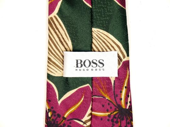 Hugo Boss Hugo Boss 100% Silk Necktie Green and Purple: MSRP $120