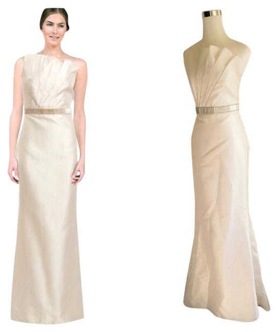 Item - Ivory/Cream One Shoulder Asymmetric Gown Formal Dress Size 2 (XS)