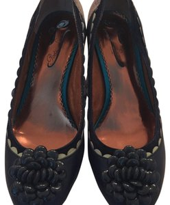 Poetic License Casual Formal Holiday Leather Navy blue Pumps