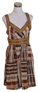 Plenty by Tracy Reese short dress Brown Empire Waist Silk on Tradesy