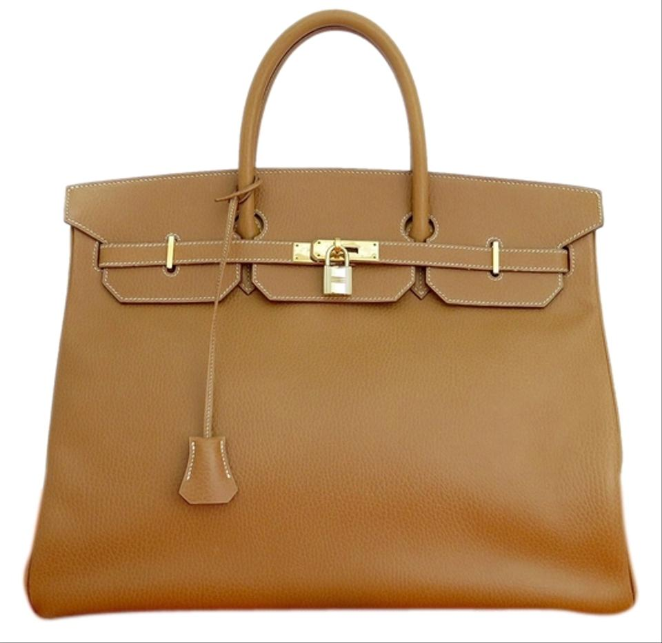 ed561e1e6a Hermès Birkin 40cm Tan Ardennes Leather Shoulder Bag - Tradesy