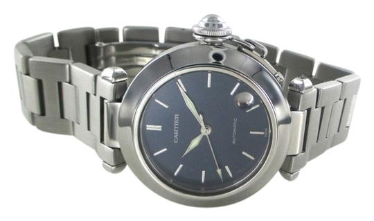 Preload https://item2.tradesy.com/images/cartier-steel-pasha-c-blue-dial-stainless-wristwatch-watch-14858611-0-1.jpg?width=440&height=440