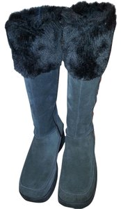 Skechers Suede Fur Trim brown Boots