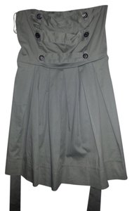 Sweet Love short dress Grey Tube Girls Night Out Sweetheart Military Ringmaster Box Pleats on Tradesy